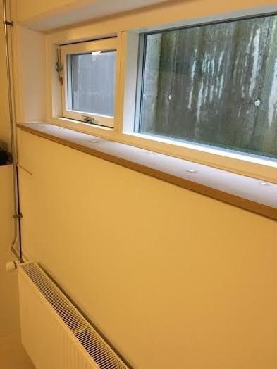 Lægning af MDF vindues plader Amager