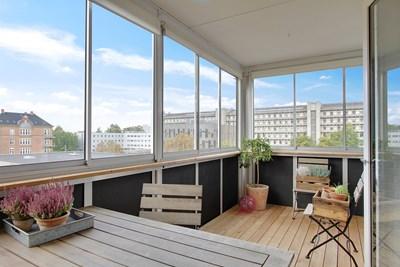 Ny overdækket altan på Frederiksberg