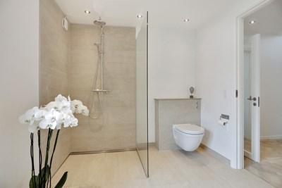 Nyt badeværelse til hus i Tune nær Roskilde